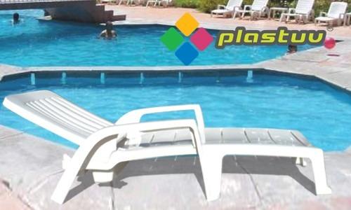 Camastro de pl stico para alberca y playa en for Albercas de plastico