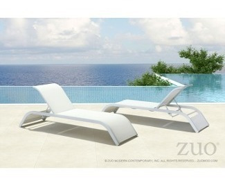 camastro para exterior modelo sun beach - blanco këssa muebl