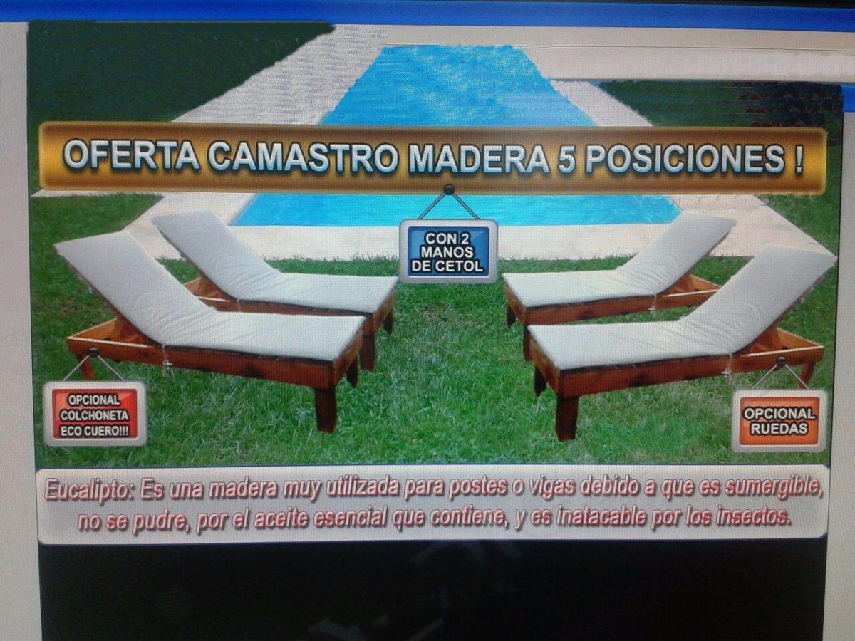 Camastro Reposera De Madera Lleva 2 1 Mesa De Regalo R Mejia  # Muebles Ramos Mejia