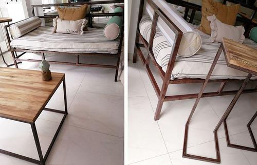 camastro sillon de hierro divan cama sofa a medida living
