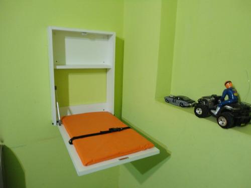 cambiador de bebe para pared rigido (cambia facil)