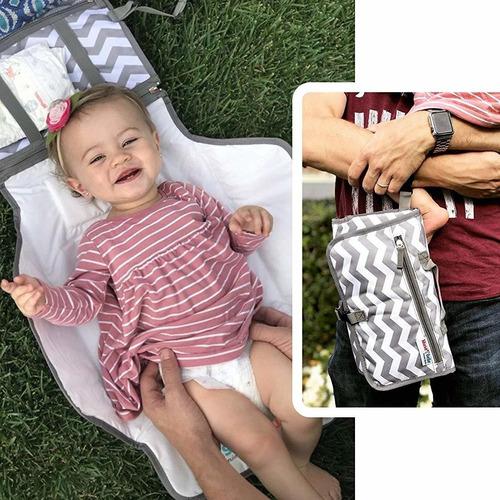 cambiador pañalera para bebé portátil 2en1