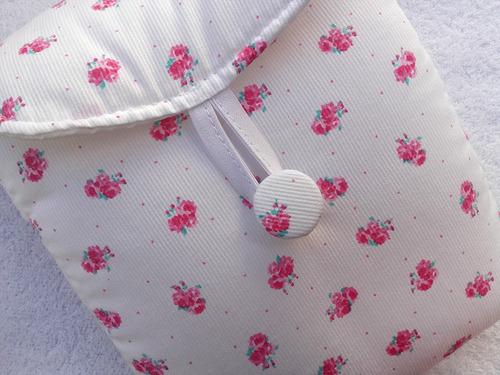 cambiador para bebé forrado en piqué (tipo sobre) para bolso