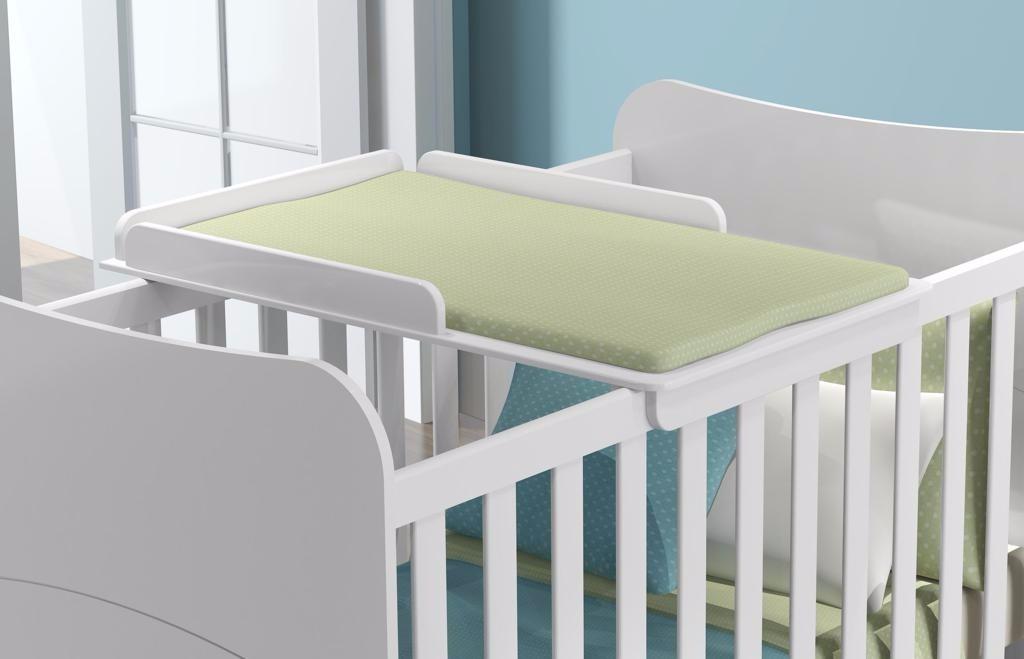 Cambiador Universal Blanco Satinado Bebe Cuarto Mueble Cuna ...