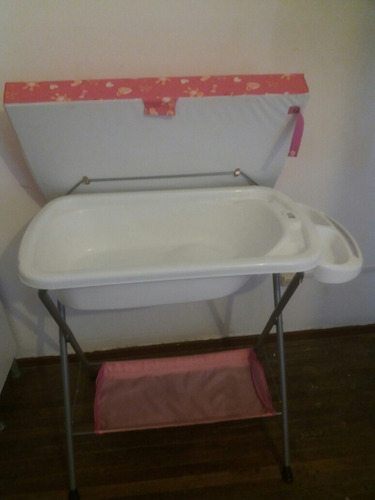 cambiador y bañera para niña