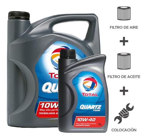 cambio aceite total 7000 10w40+ f aceite + f aire + coloc 5l