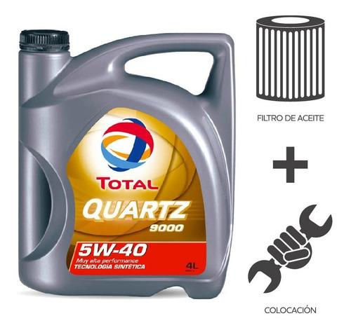cambio aceite total 9000 5w40+ f aceite + colocacion 4l