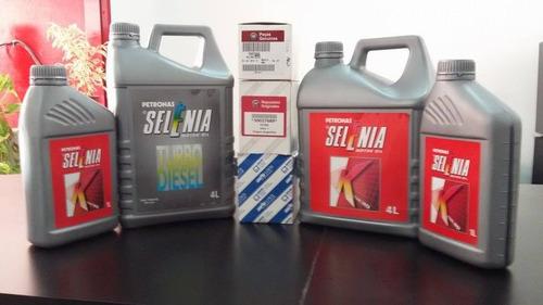 cambio de aceite selenia y filtro