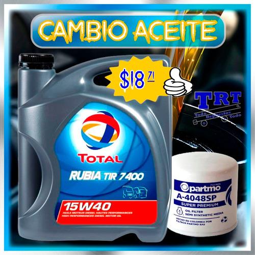 cambio de aceite total 10w30 20w50 15w40 rinde 10.000km