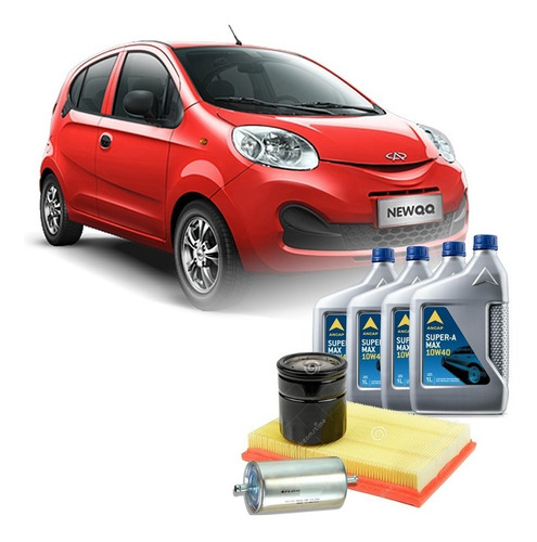 cambio de aceite y filtro chery new qq 10w40 service