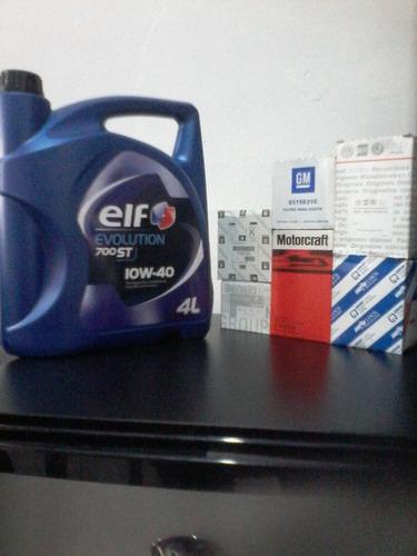 cambio de aceite y filtro elf evolution 700semi/900sintetico