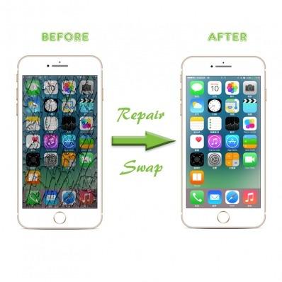 cambio de cristal de pantalla iphone 8plus