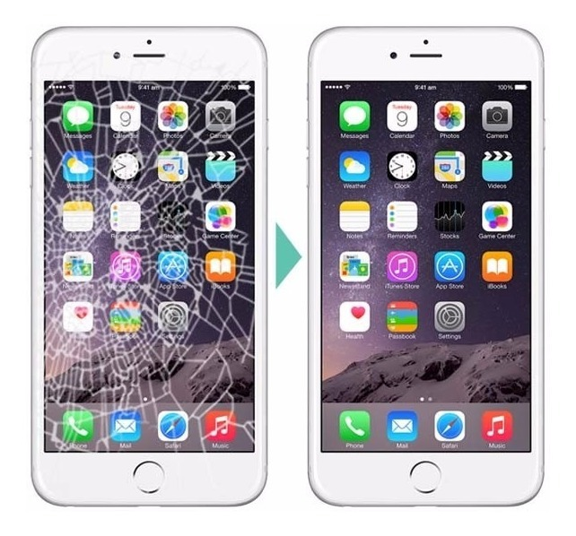 cf01b5f884c Cambio De Cristal Pantalla iPhone 6s Original Vidrio Lcd ...