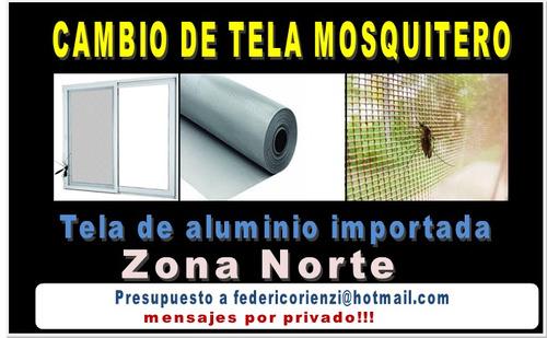 cambio de tela mosquitero (tela de aluminio importado)
