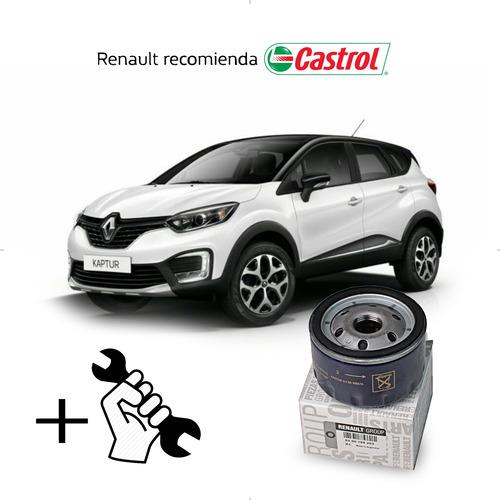 cambio filtro + aceite castrol 10w40 renault captur 2.0 f4r