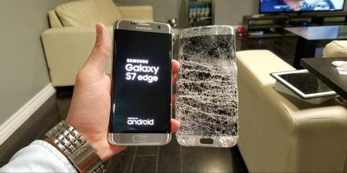 cambio reparacion gorilla glass vidrio s7 edge