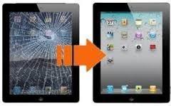 cambio visor, vidrio tactil ipad mini original en el dia.