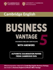 cambridge english business 5 vantage student's book with ans