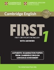 cambridge english first 1 with answers exam from 2015