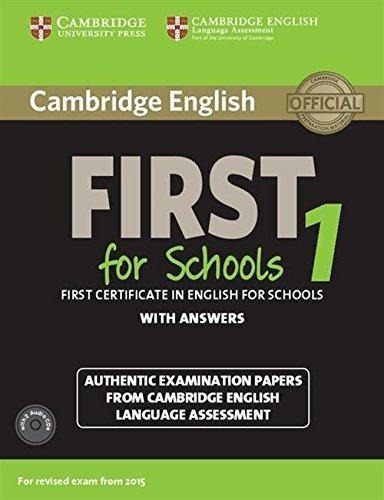 cambridge english first for schools 1 with key & audio cd s