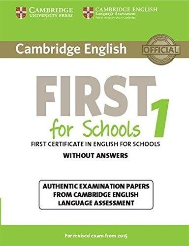 cambridge english first for schools 1 - without answers