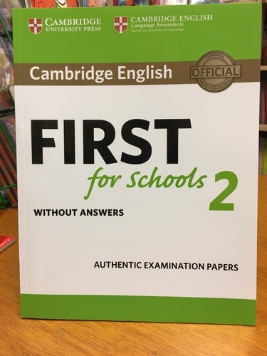 cambridge english first for schools 2 - without answers