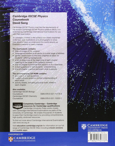 cambridge igcse physics coursebook - david sang