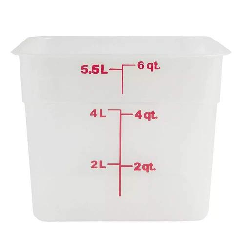 cambro 6sfspp190 contenedor de almacenamiento camsquare, tra