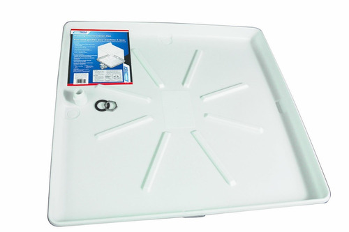 camco 20752 32  od x 30  lavadora drain pan w / fitting pvc