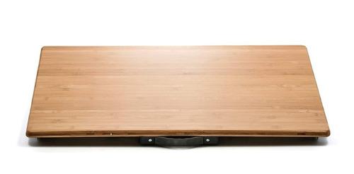 camco 51893 mesa plegable de bambú con patas de aluminio