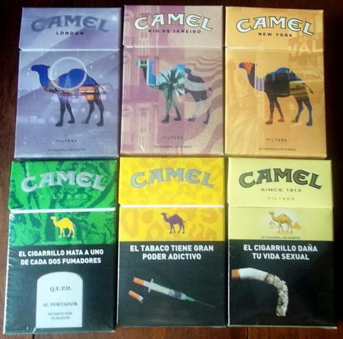 camel box una marquilla de la imagen en la plata