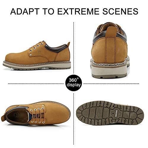camel crown uniforme botas de trabajo para hombre ligeras ca