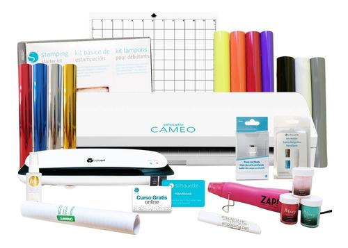 cameo 3 + laminadora + kit de embossing + curso gratis +cons