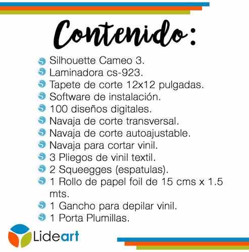cameo + laminadora + consumibles / curso online gratis
