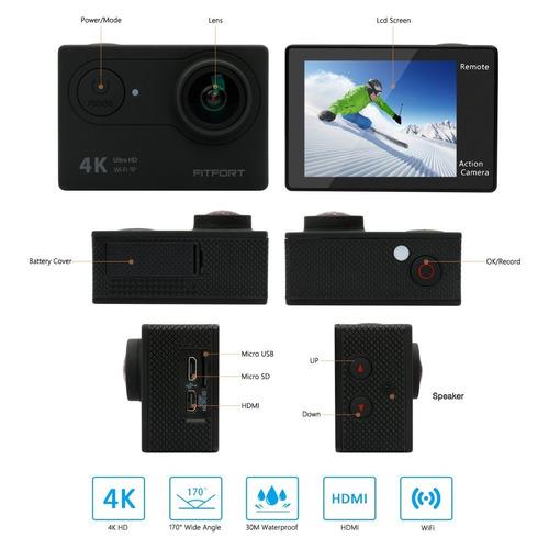 camera 4k wifi ultra hd waterproof sport camera 2 inch lcd s
