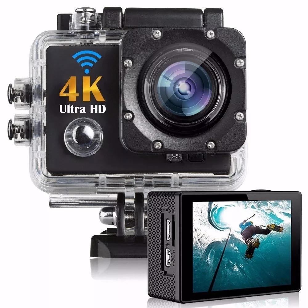 4k 16mp Ultra Hd Cocas Kamera Sport Action Go Pro Kogan Wifi Camera With Remote Shutter Carregando Zoom