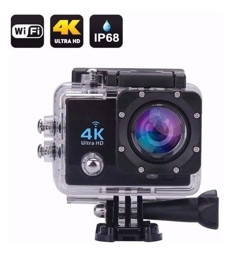 camera action go cam pro sport ultra 4k com bastão de selfie