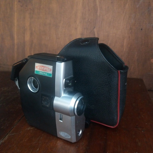 camera antiga fujica single 8 p2 com case decorativa