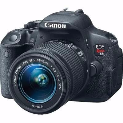 camera canon eos rebel t5i +18-55 +50mm stm +64gb c10+bolsa