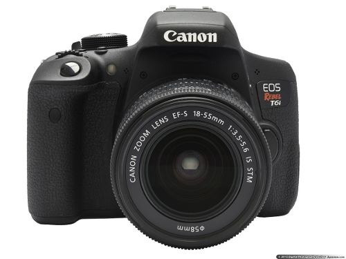 camera canon eos rebel t6i dslr com lente 18-55mm is stm