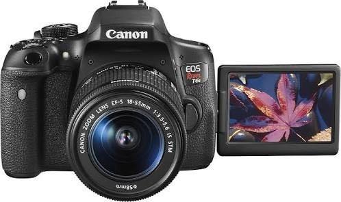 camera canon eos t6i lente 18-55 stm + sd64gb+bolsa+tripé