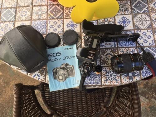 camera canon eos500  com lente 28-80 mm analogica