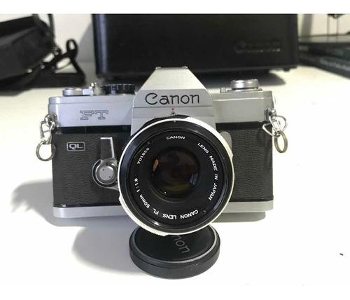 camera canon ft analógica com maleta e acessórios originais