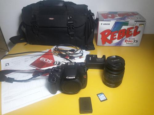 camera canon rebel eos t5 + lente ef-s18-55 iii + acessorios