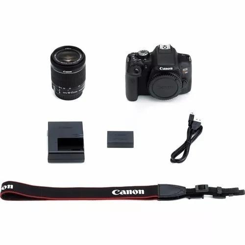 camera canon semi profissional eos rebel t6i dslr c/50mm1.8