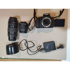 Camera Canon T3i C/ 2 Lentes 18-55mm + 70-300mm Ótimo Estado
