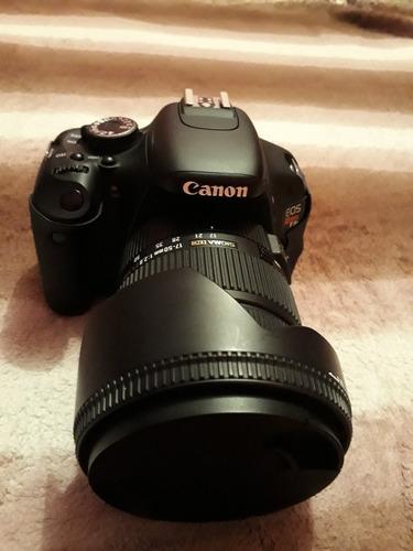 camera canon t3i com lente 17-50mm 2.8