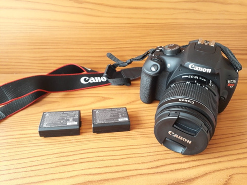 camera canon t5 + lente 18-55 + 2 beterias originais +sd 4gb