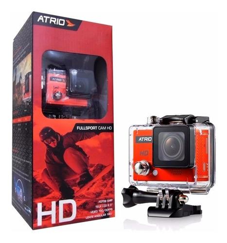 camera de ação atrio hd 5mp 720p + grip flutuante - dc186