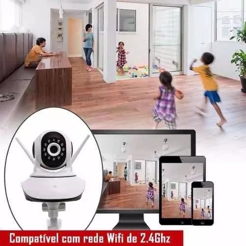 camera de segurança giratoria 360º ip camera wifi hd audio